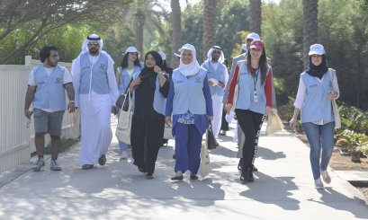 "Al Ain University participates in the ""Walk of Tolerance"" to celebrate the UN Day"